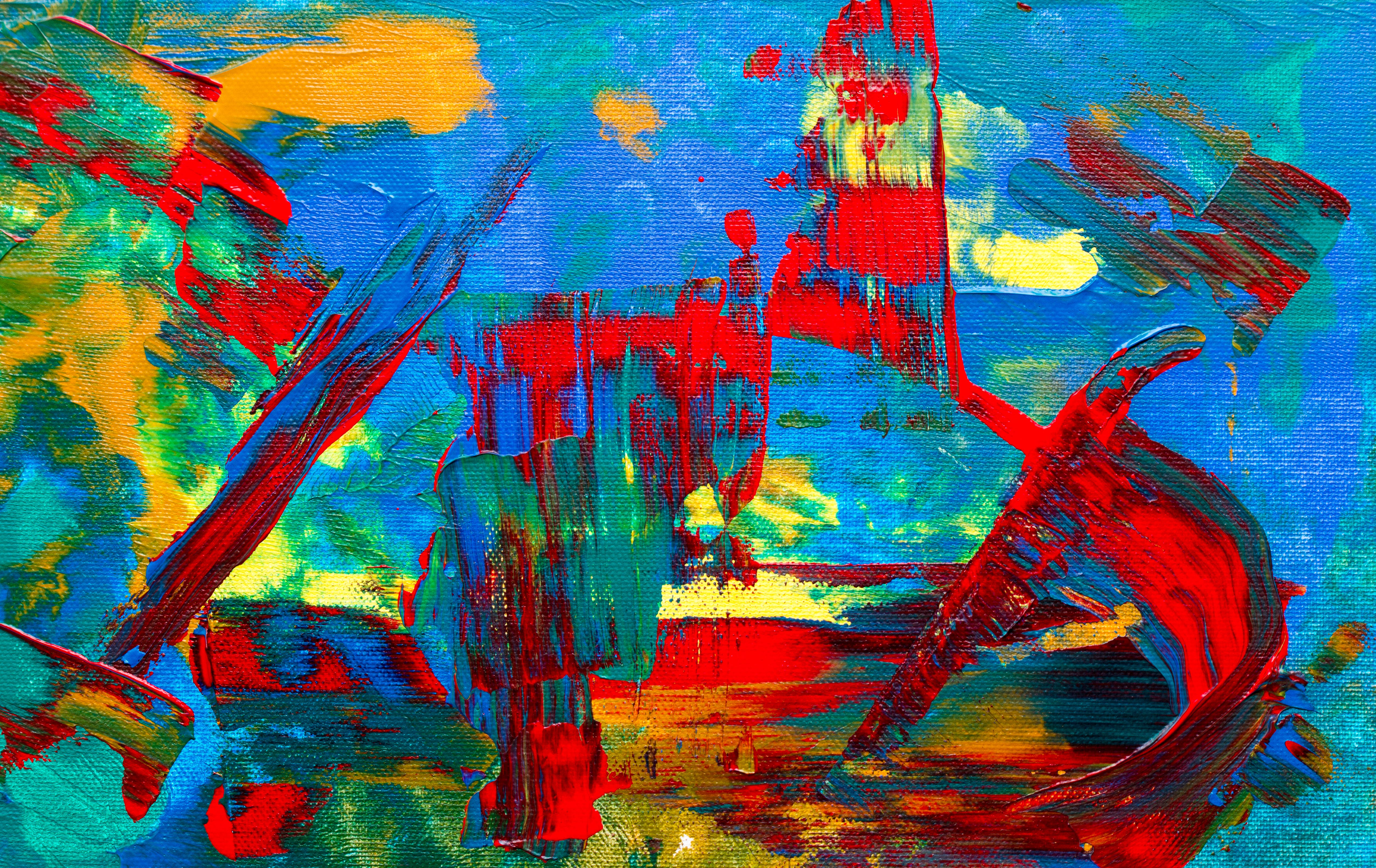 Multicolored Abstract Painting