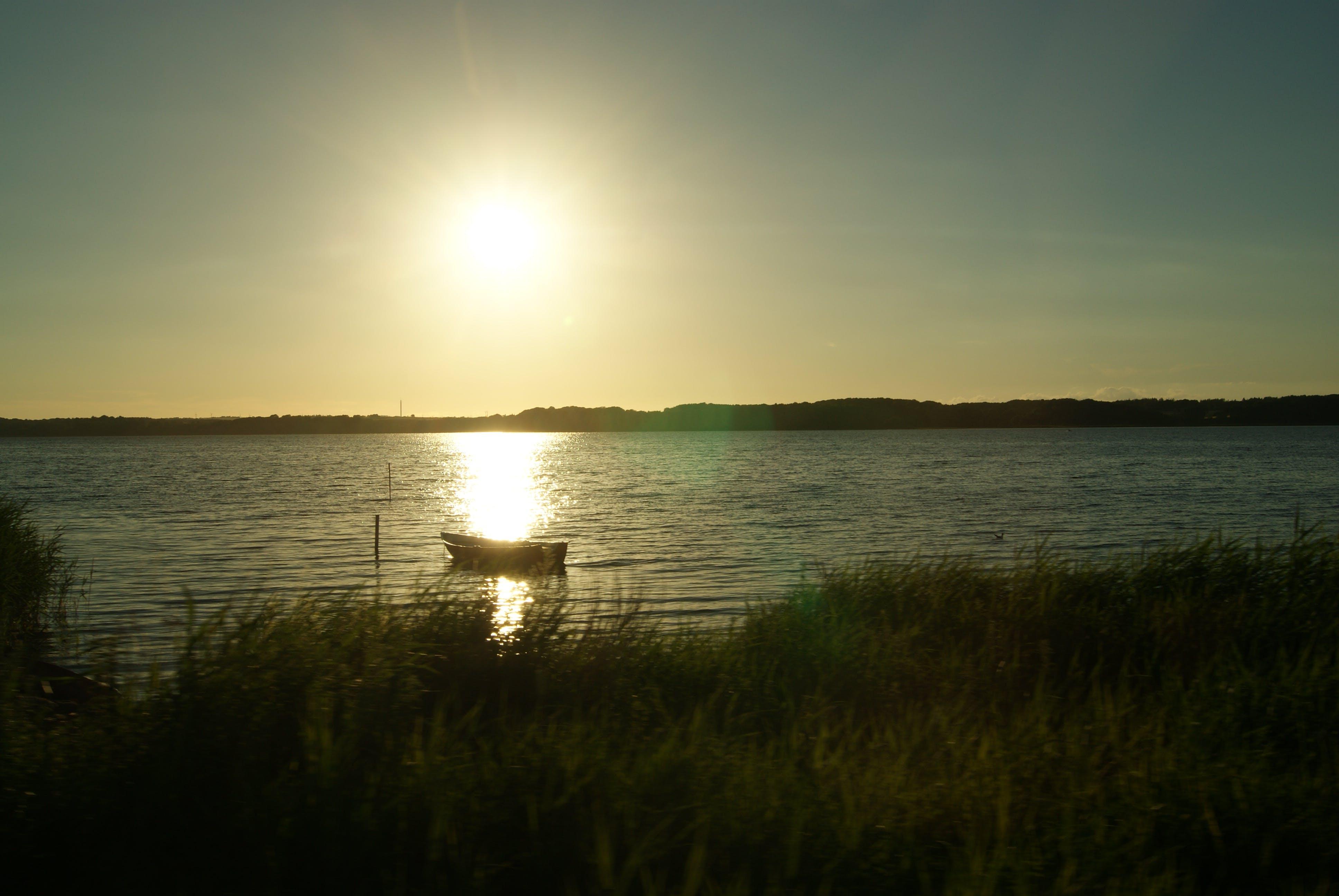 Free stock photo of boat, denmark, lake, sun