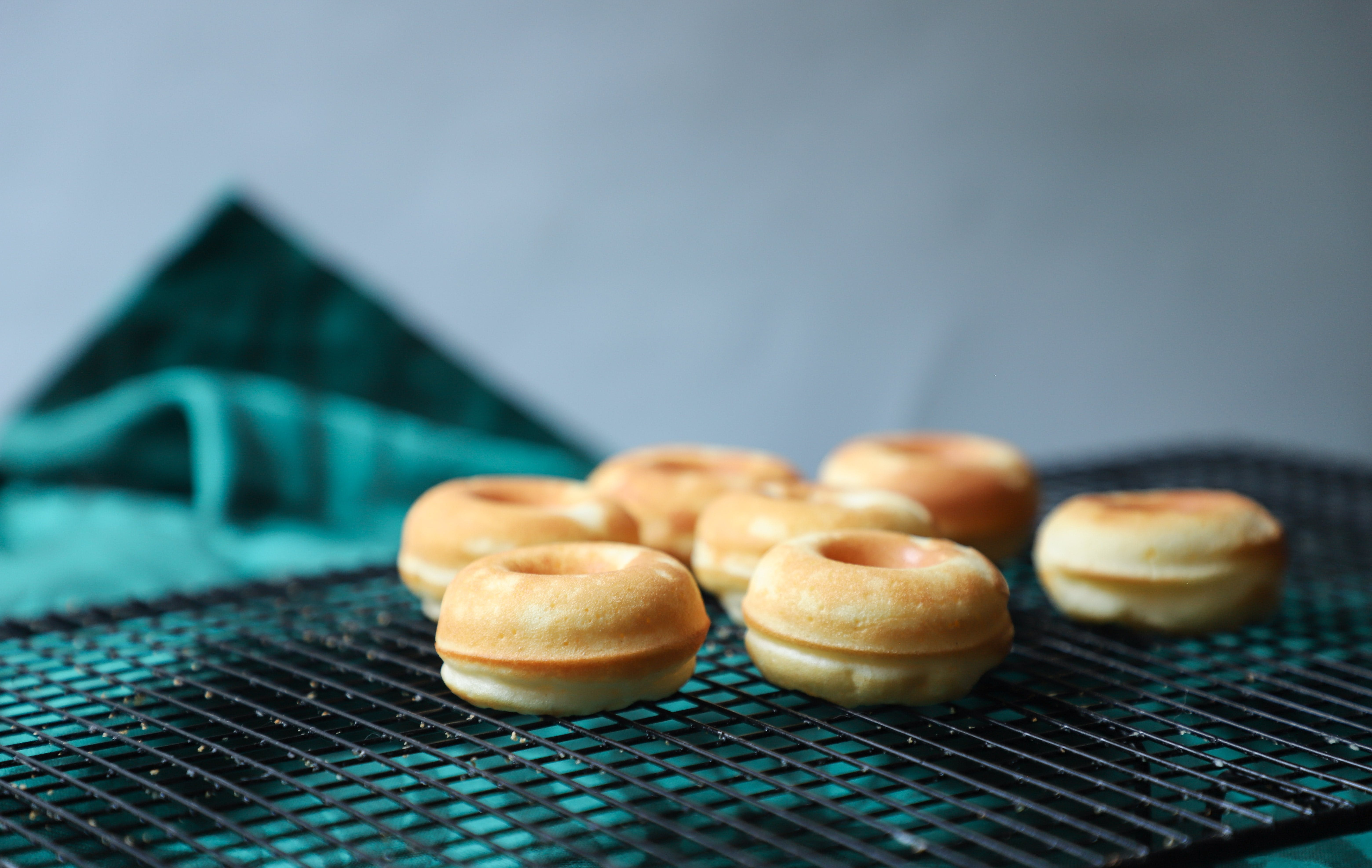 Baked Macaroons on Black Grill