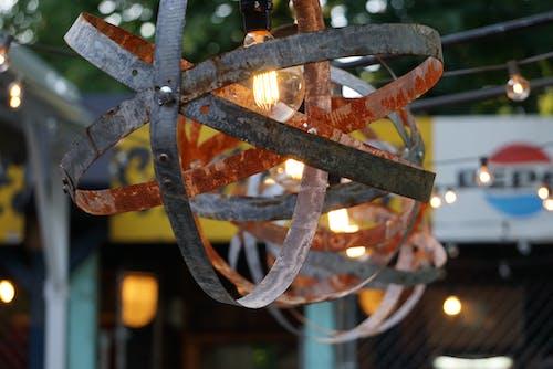 Kostenloses Stock Foto zu glühbirne, laterne, string-glühbirne