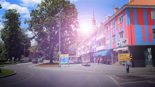 シティ, タウン, ダウンタウン, 乗り物の無料の写真素材