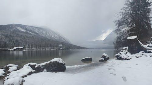 Kostenloses Stock Foto zu nebel, neblig, schnee, wasser