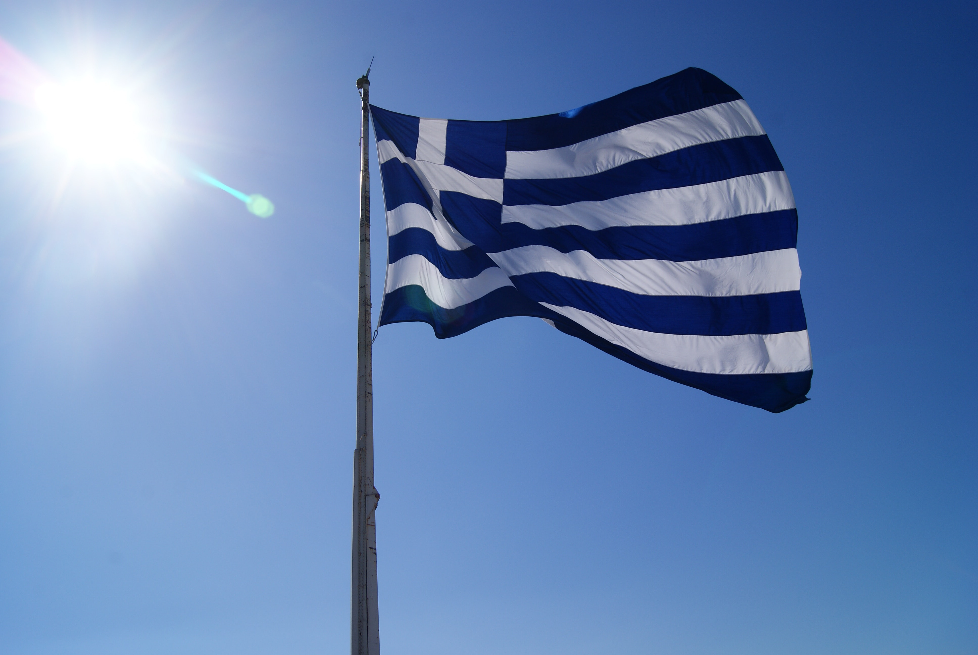 Flag Of Greece Free Stock Photo