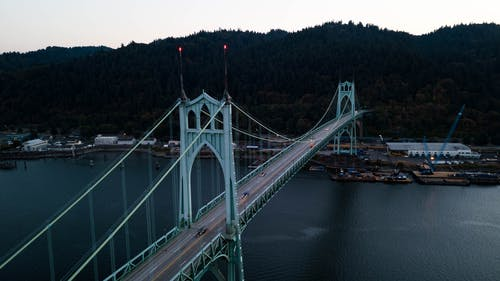 DJI, 橋, 空拍圖 的 免费素材照片