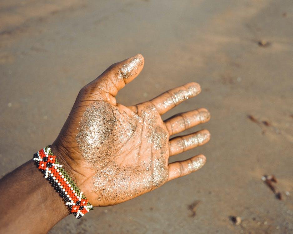 areia, beira-mar, bracelete