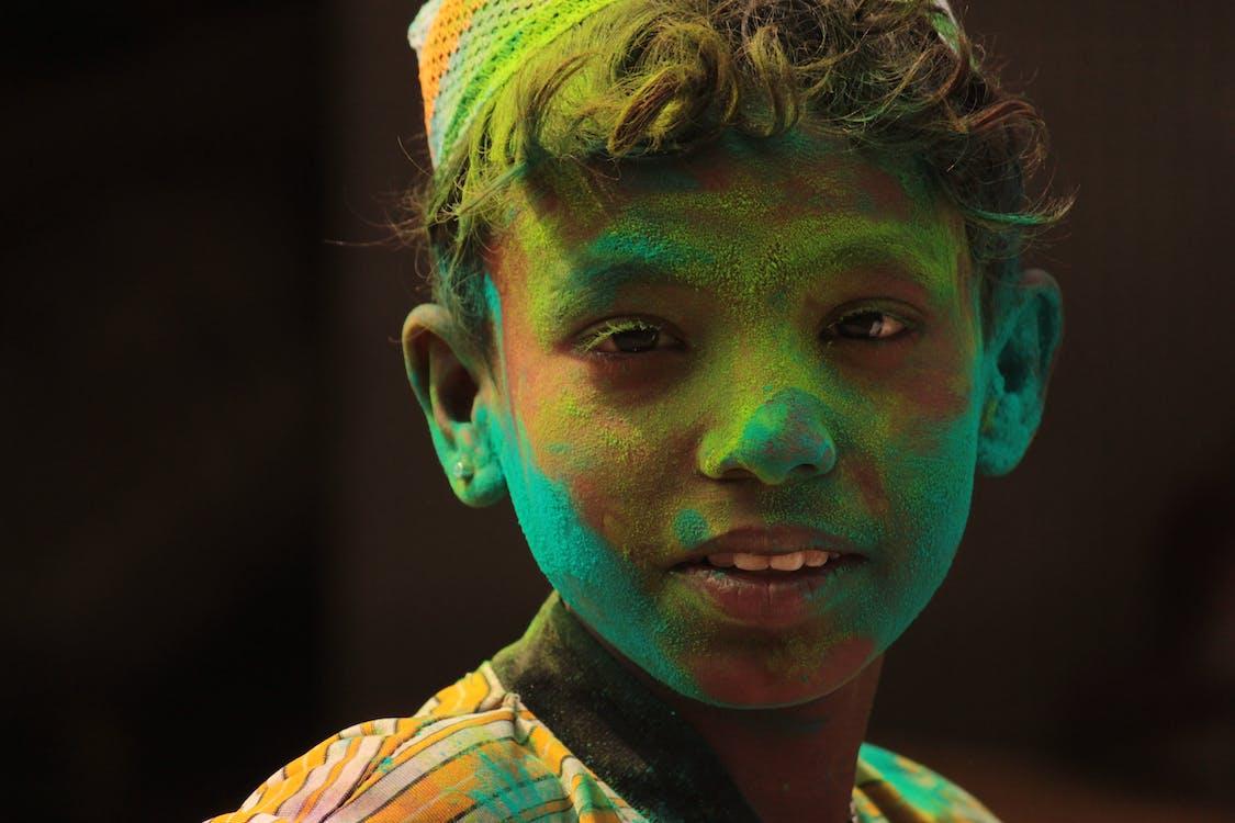 ansiktsfärg, barn, färg