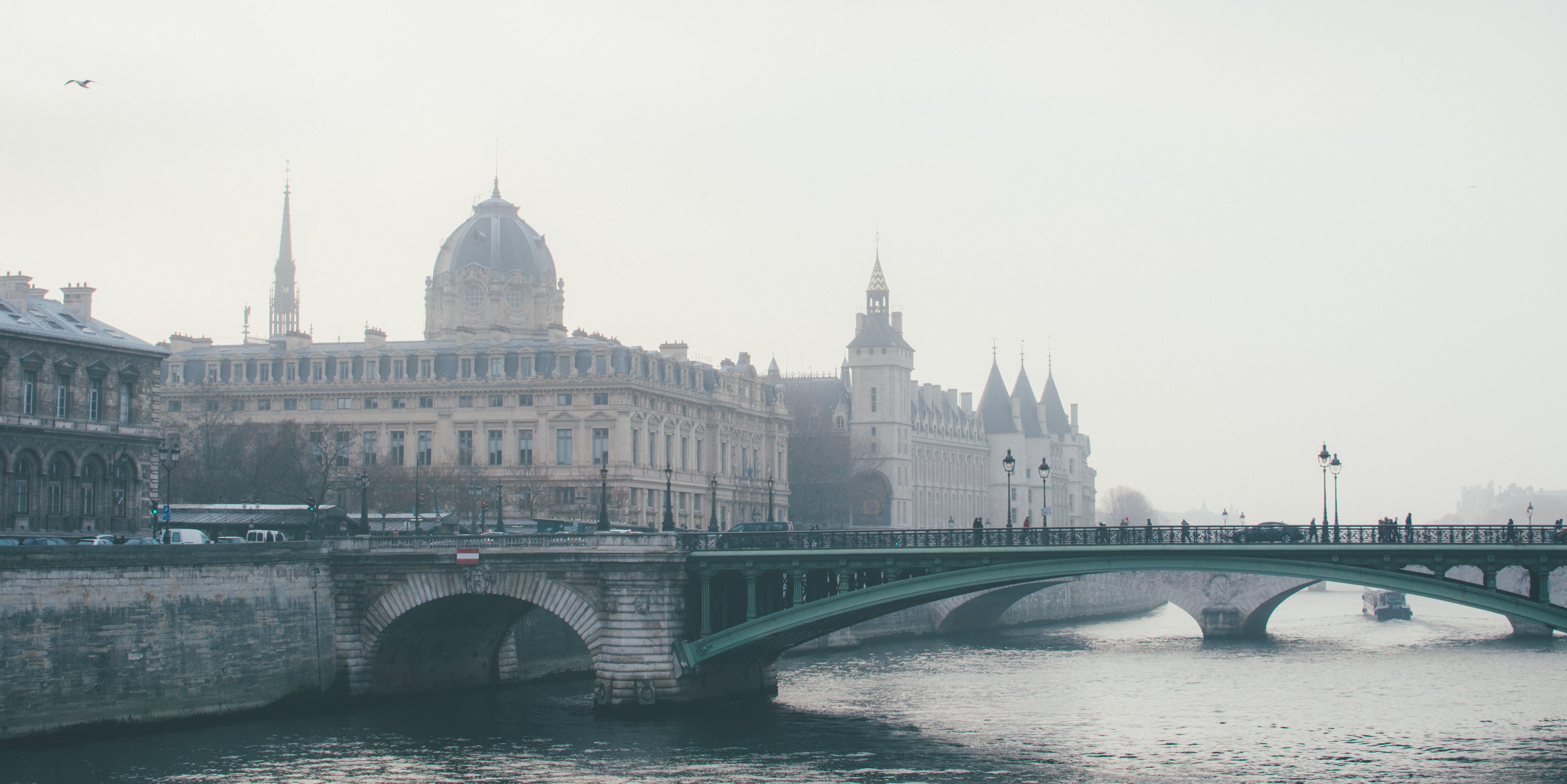 Concrete Bridge Near Buildings