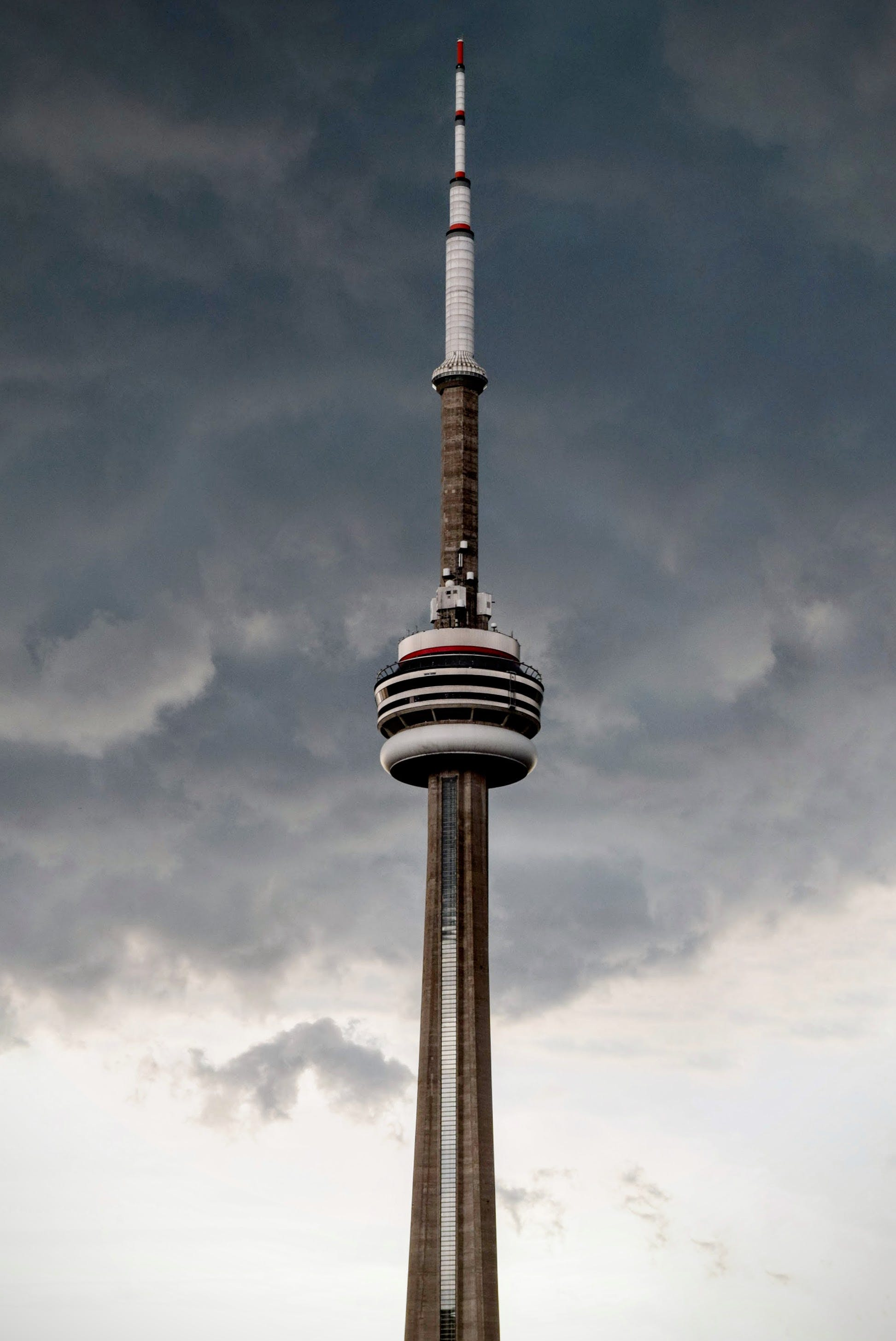 Cn Tower Under Cloudy Sky