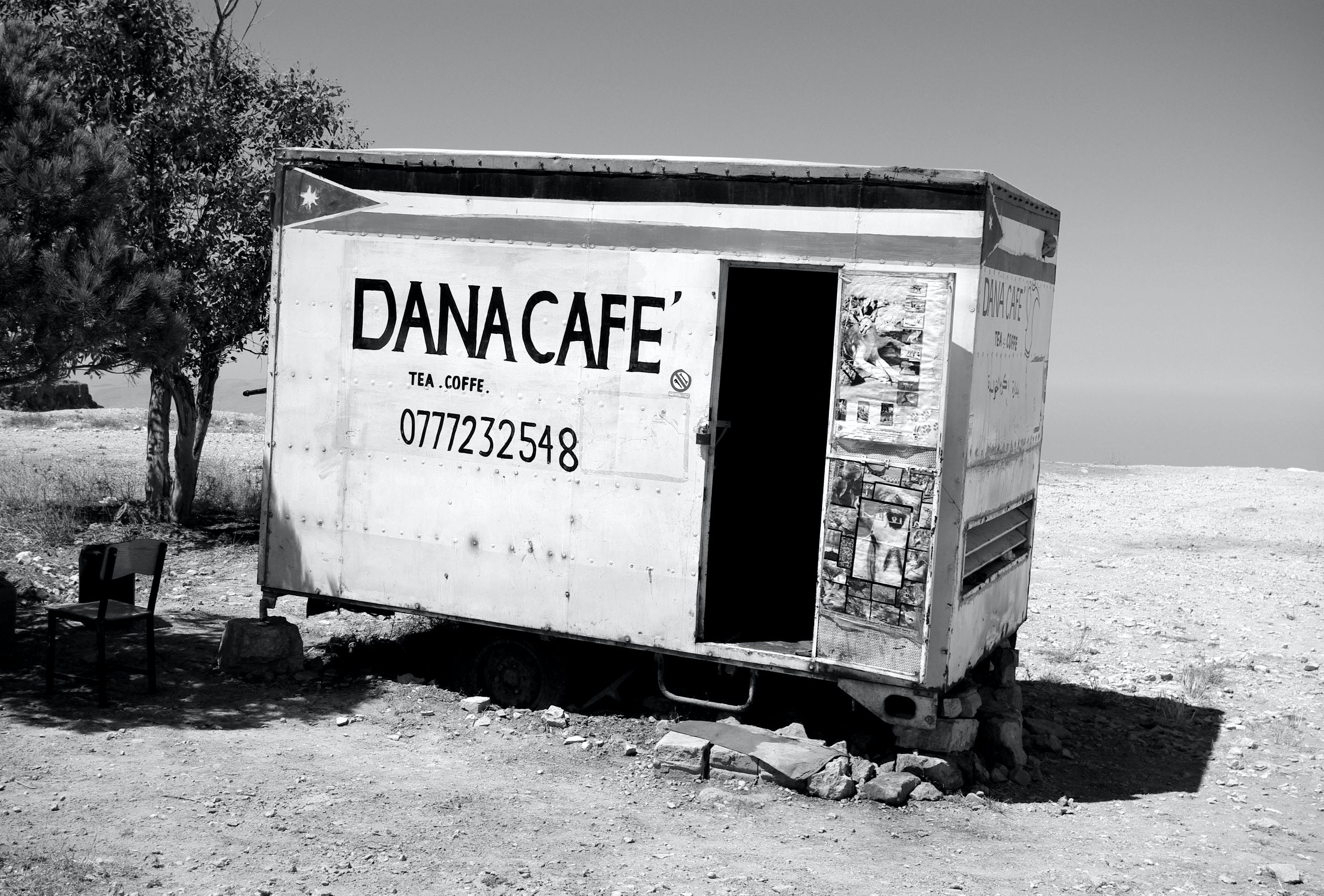 Free stock photo of bar cafe, black and white, coffee shop, desert