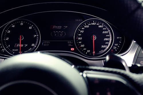 Person Showing Audi Rs 7 Speedometer