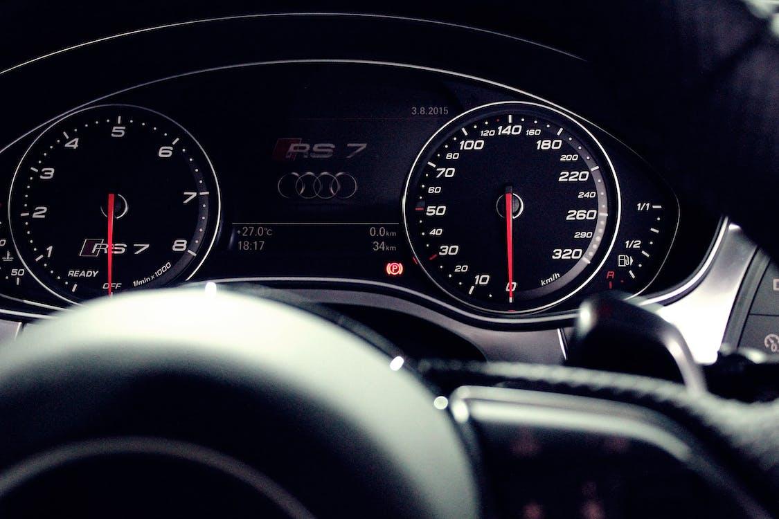 audi, autó, autó belső