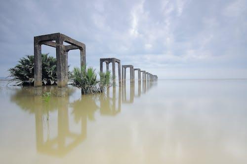 Бесплатное стоковое фото с архитектура, вода, деревья, колонны