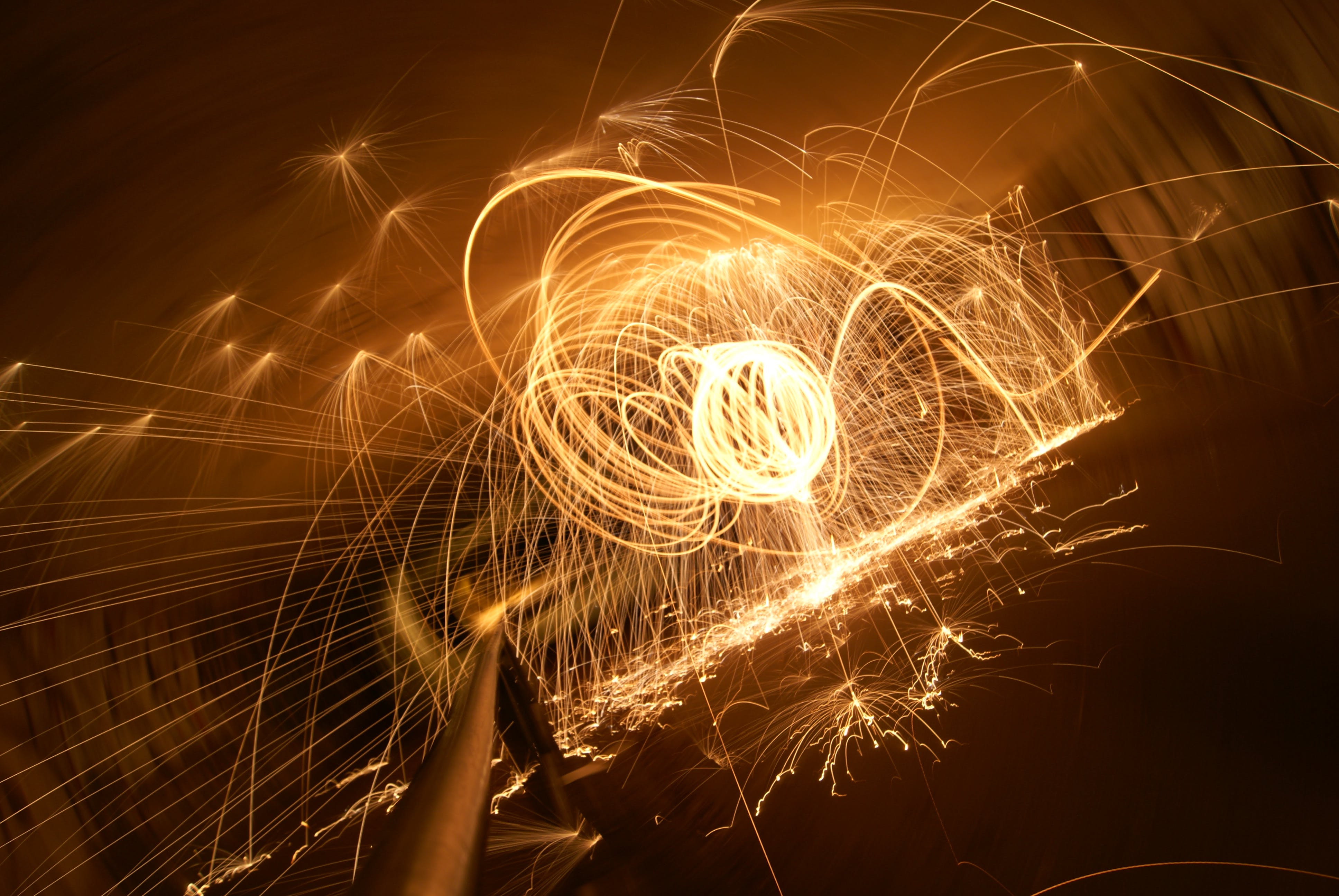 Free stock photo of globe, light painting, sparks