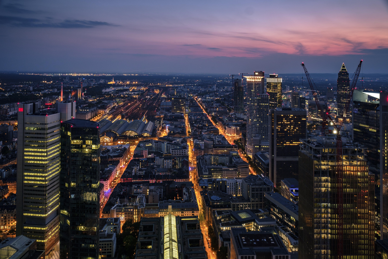 Photo of City Skyline during Dusk