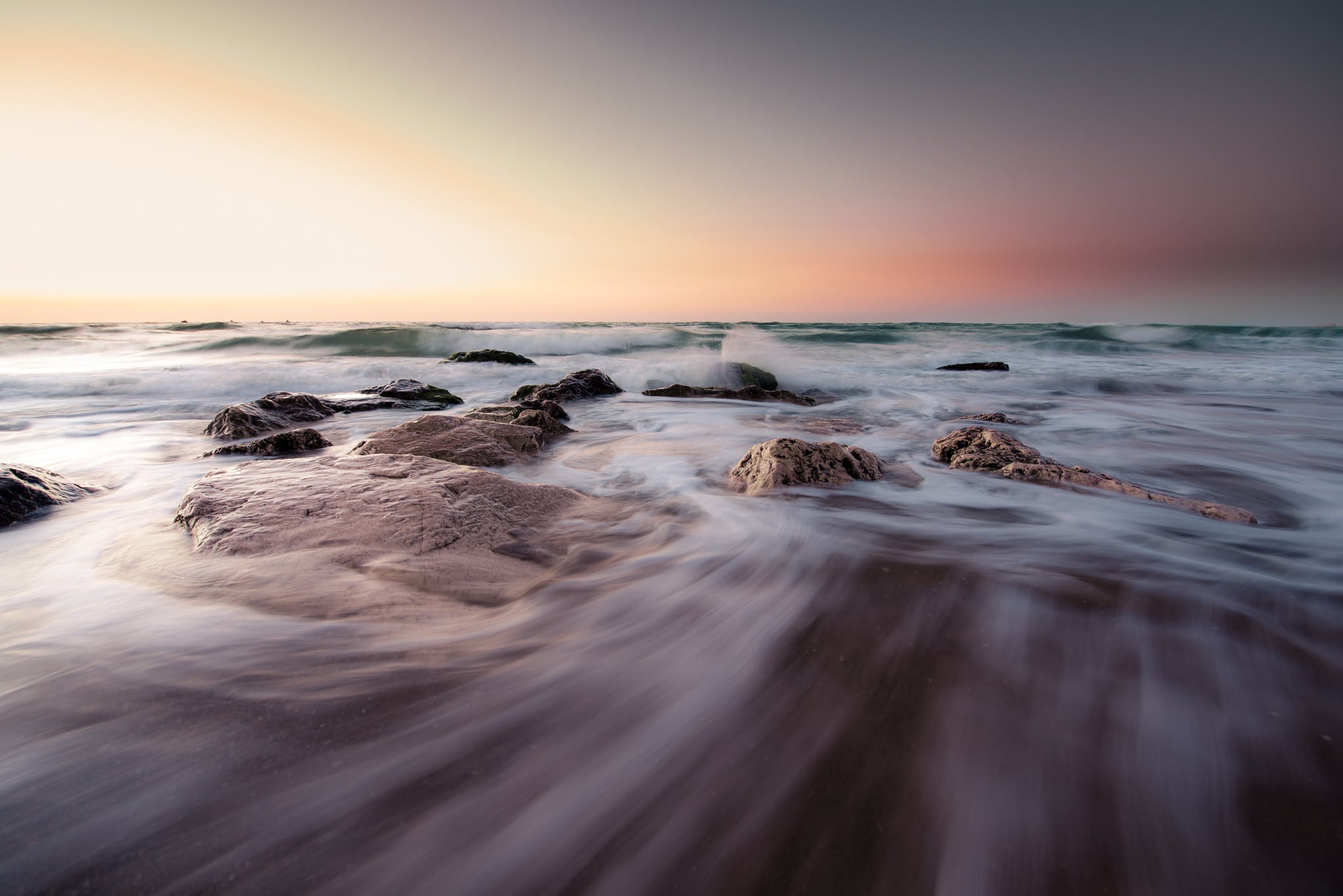 Free stock photo of abstract, curves, sea, stones