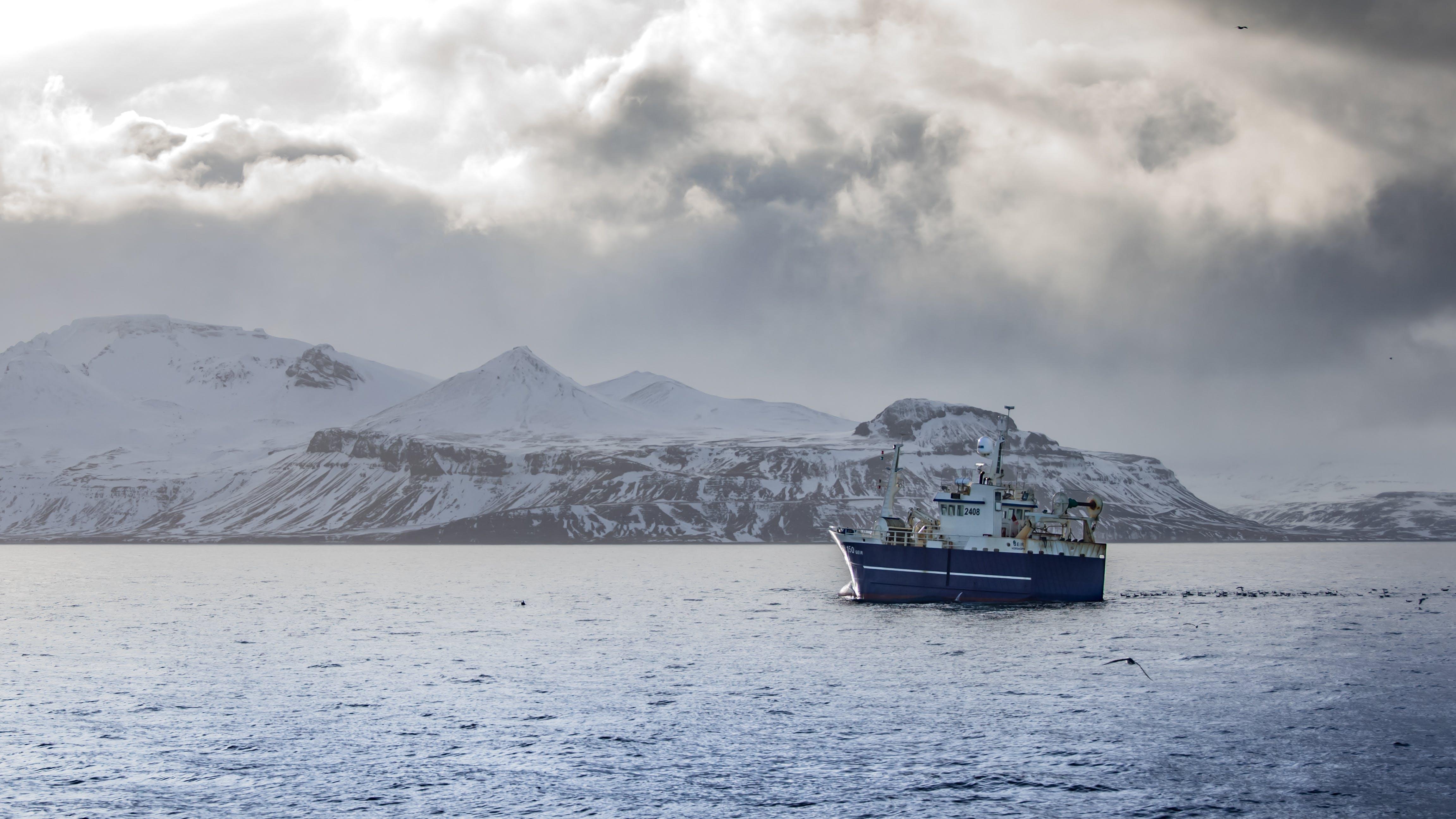 Kostenloses Stock Foto zu kalt, gletscher, schnee, meer