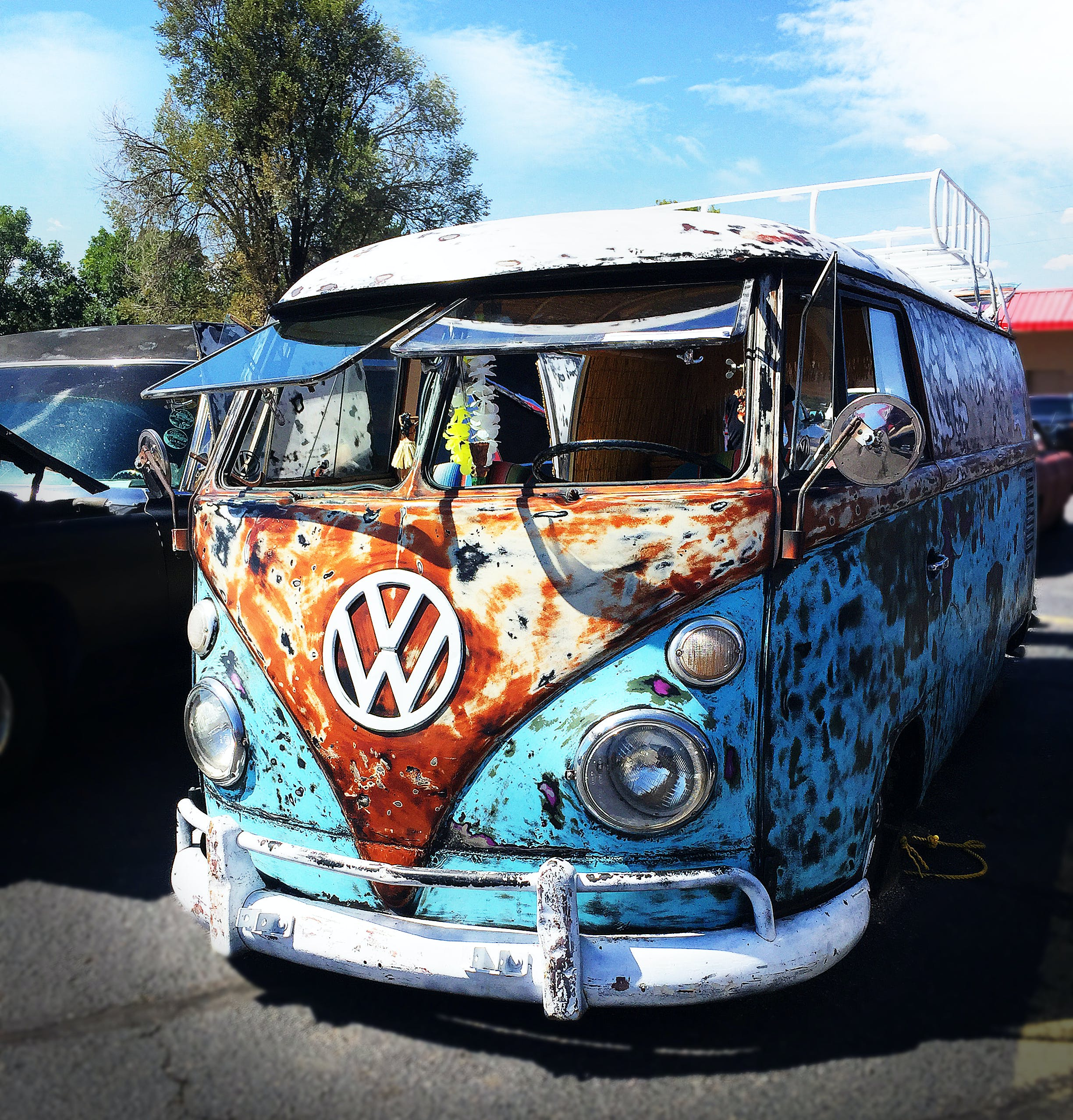 Free stock photo of bus, car show, old, rust
