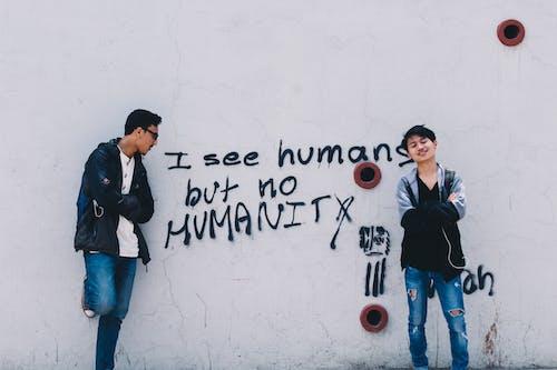 Základová fotografie zdarma na téma akce, bratři, graffiti, kluci