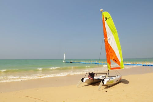 Free stock photo of andaman, beach, catamaran, horizon