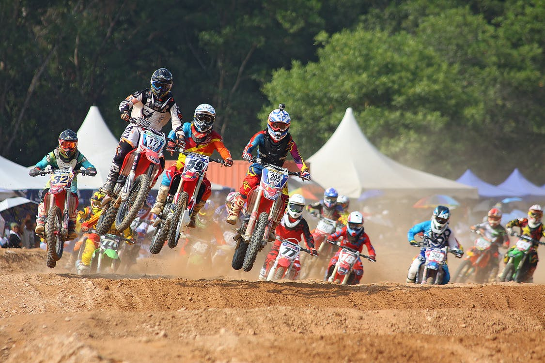 Person Showing Motocross Racing