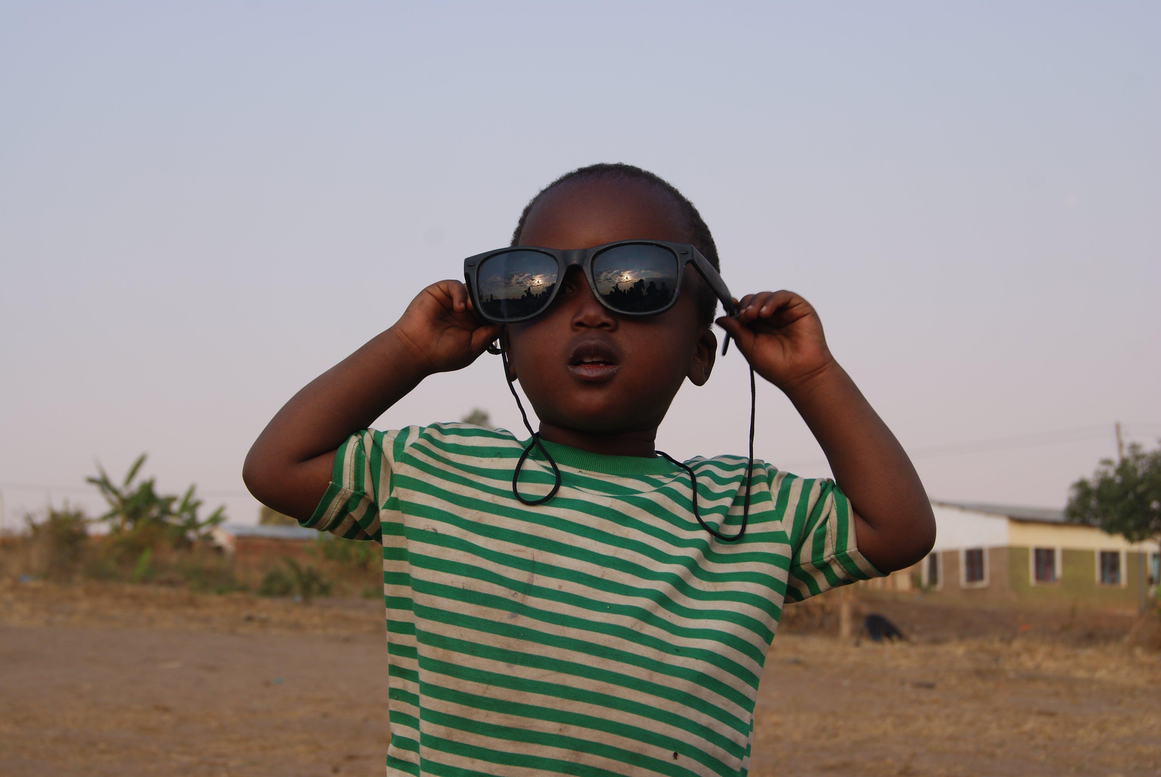 Free stock photo of africa, child, kid, sunglasses