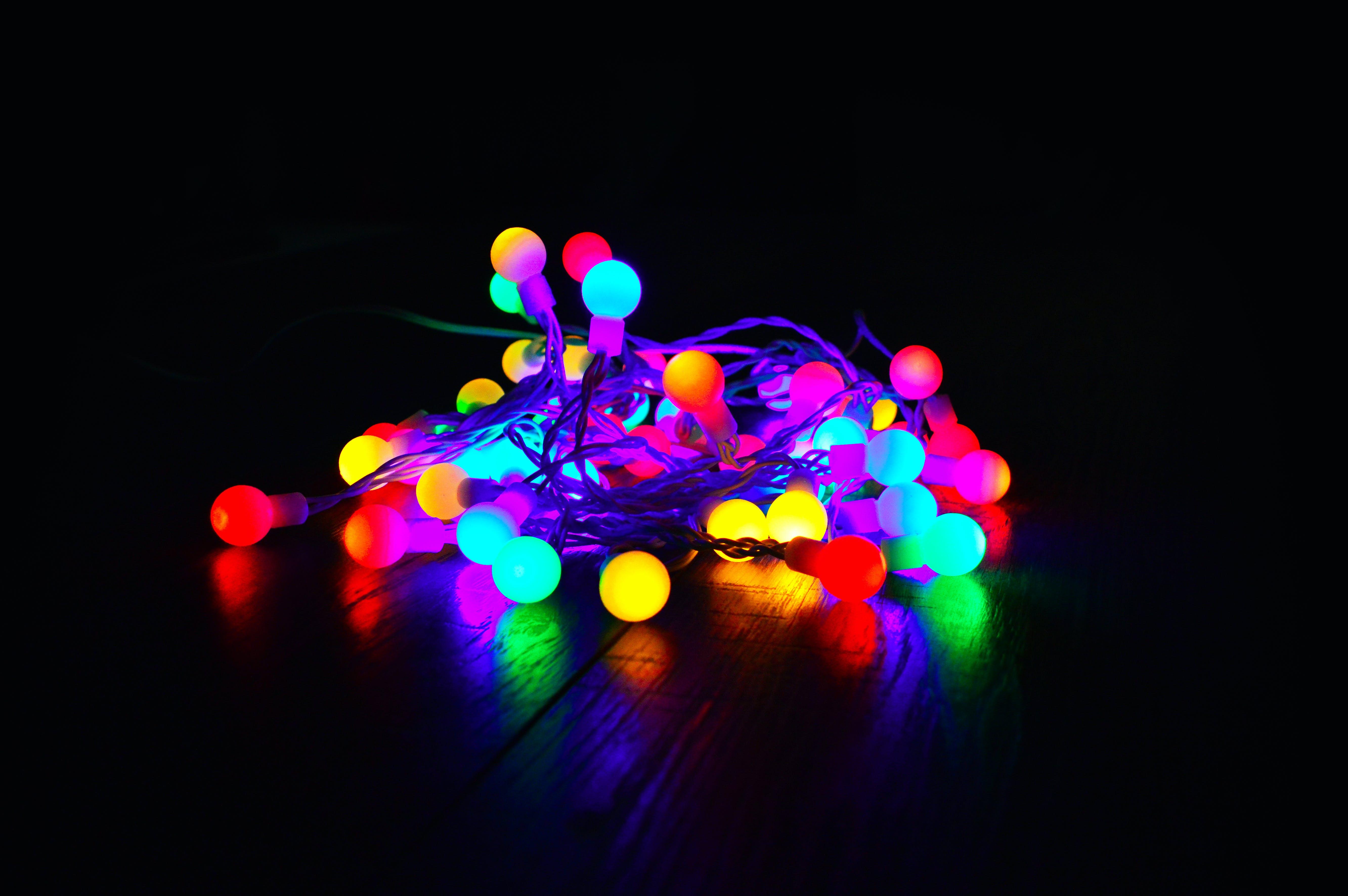 Assorted-color String Lights on Dark Room