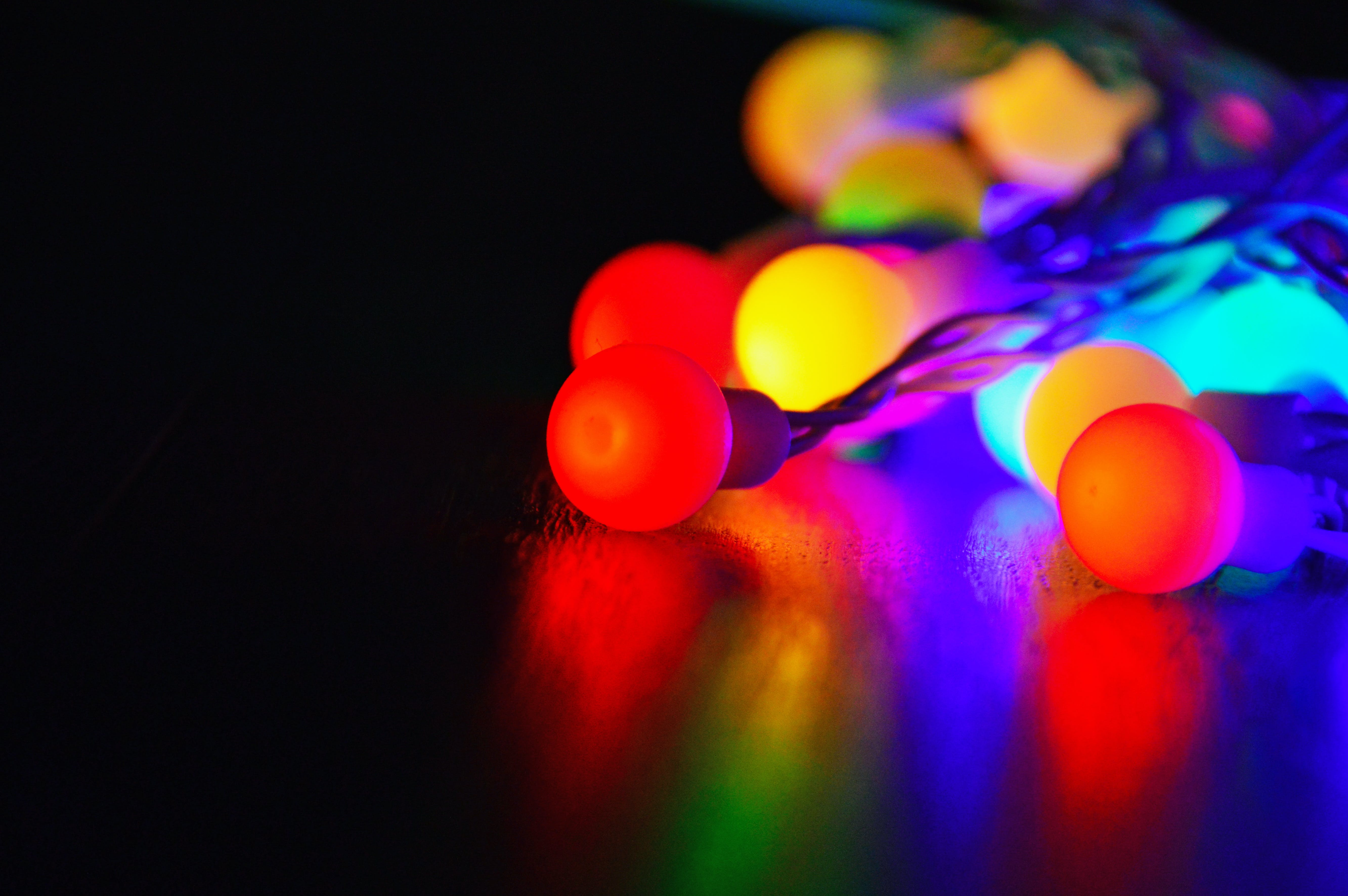 Selective Focus Photography of Led String Lights