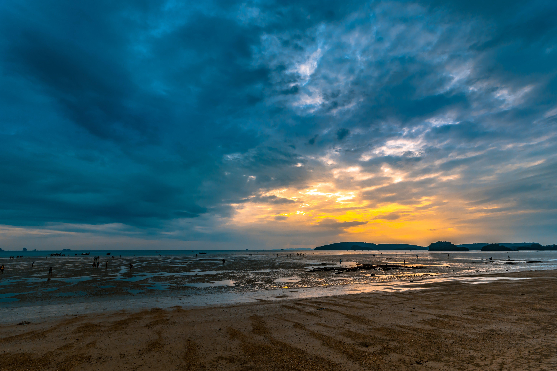Gratis lagerfoto af hav, himmel, Krabi, lavvande