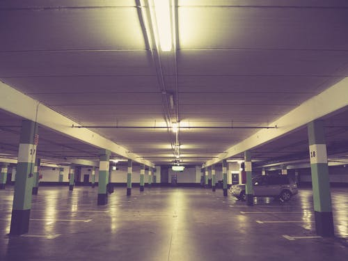 Free stock photo of car, garage, underground garage