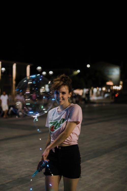 Free stock photo of explore, fun, girl, lights