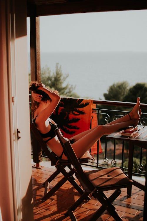 Imagine de stoc gratuită din balcon, fată, femeie, om