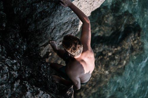 Základová fotografie zdarma na téma horolezec, kámen, kameny, lezení
