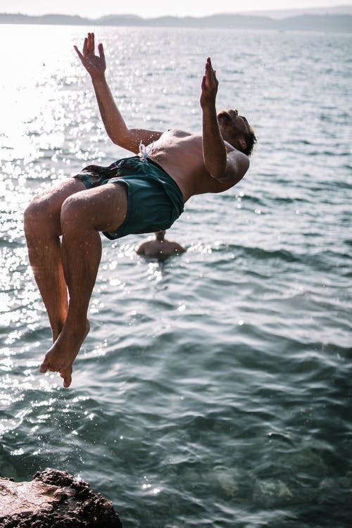 Man Jumping on Water