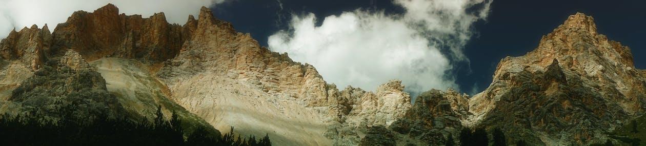 cél, emelkedő, hegyek