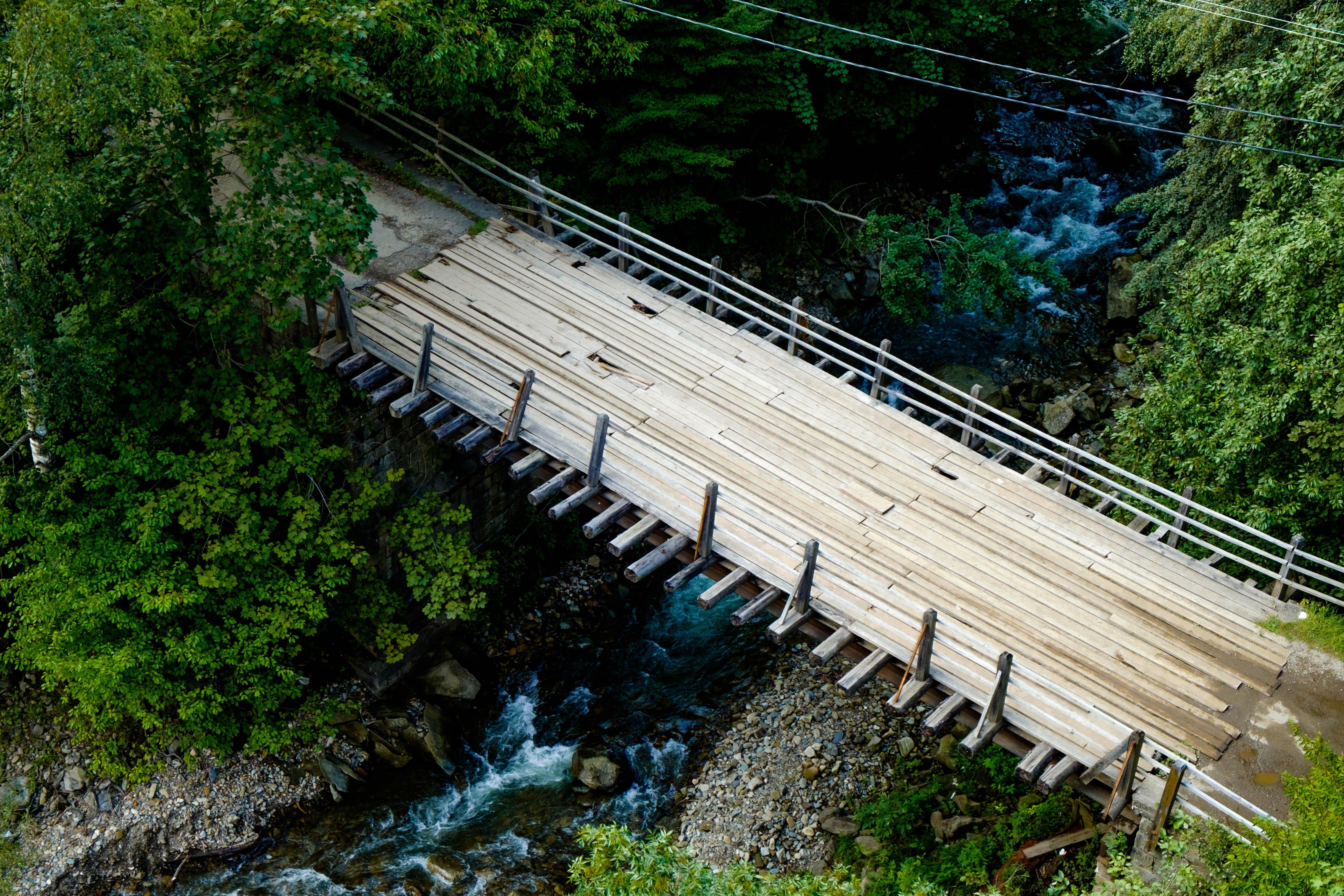Free stock photo of bridge, greens, road, waterfall