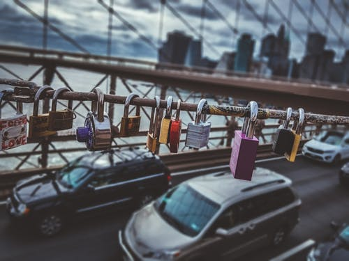 Free stock photo of bridge, brooklyn bridge, locket, love