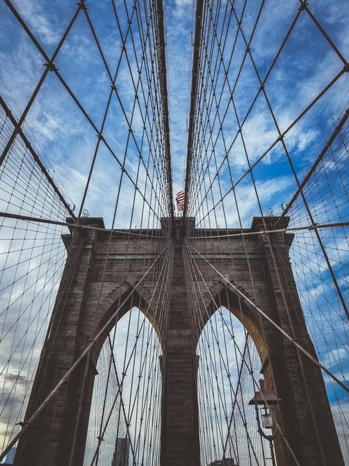 Gratis stockfoto met Amerika, architectuur, Brooklyn Bridge, brug
