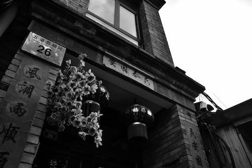 모노톤의, 베이징, 오래된 건물, 중국어 cluture의 무료 스톡 사진
