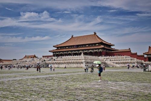 금단의 궁전, 베이징, 오래된 건물, 중국 건축물의 무료 스톡 사진