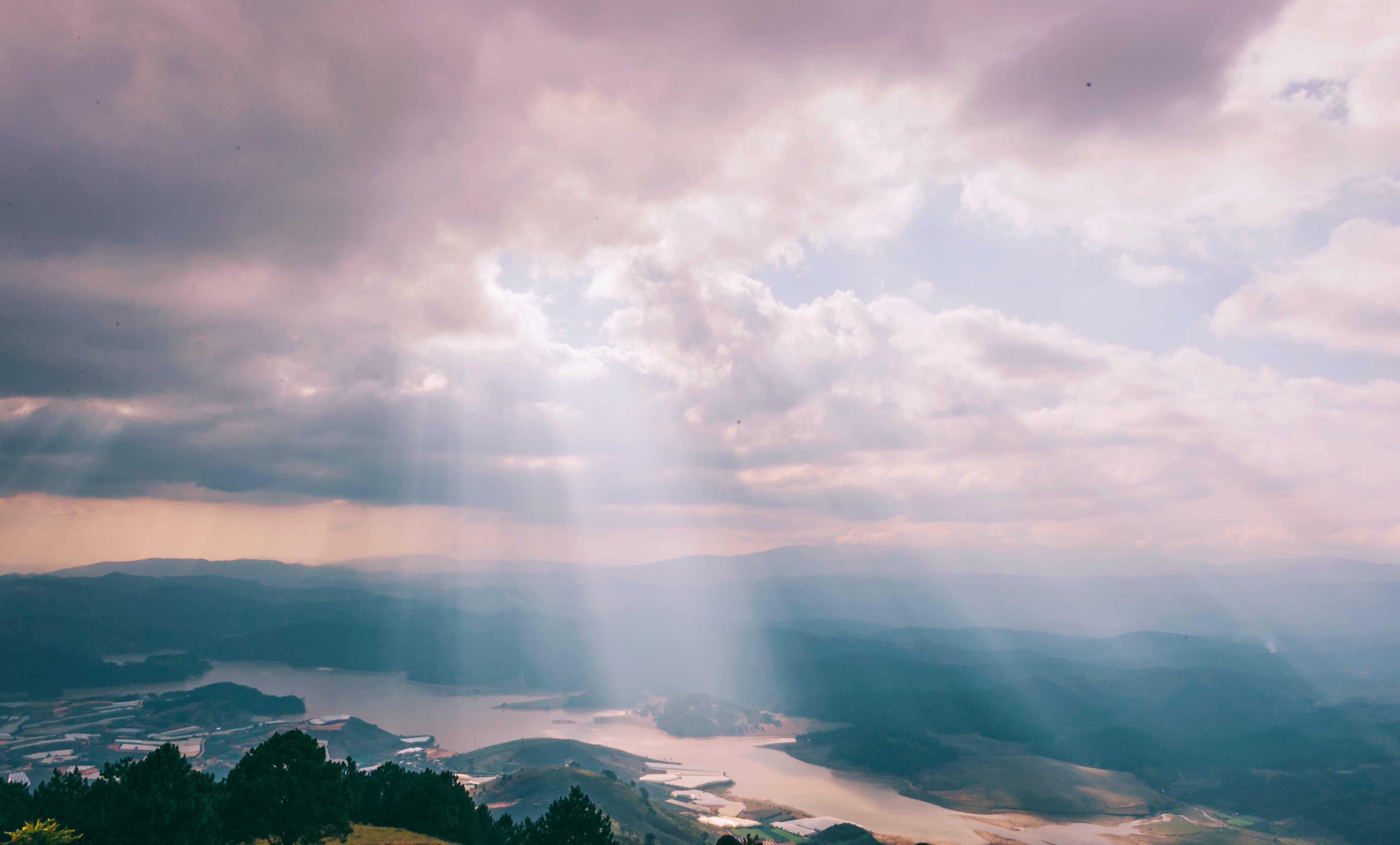 abend, atmosphäre, berg