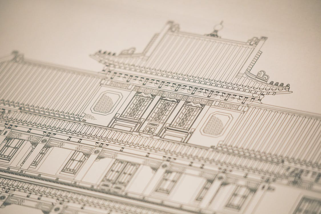 ブループリント, 印刷する, 図