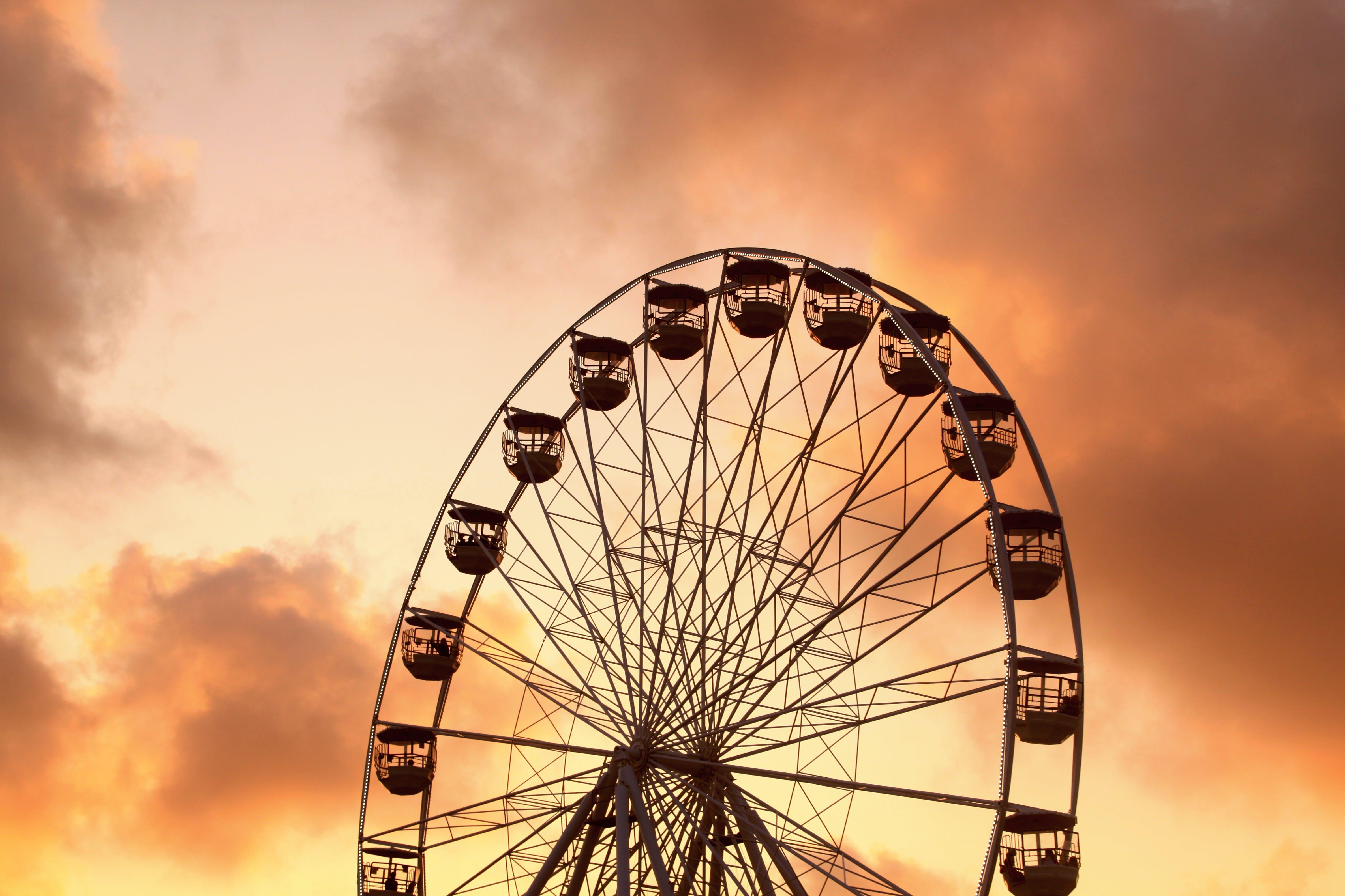 dramatická obloha, karneval, požitek