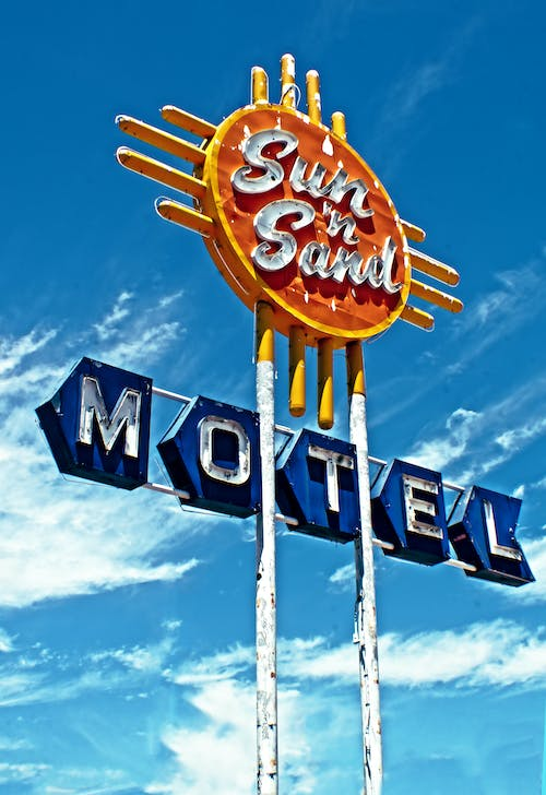 Free stock photo of motel, neon sign, route 66