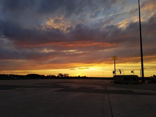 Imagine de stoc gratuită din aeroport, apus, asfalt, Canada