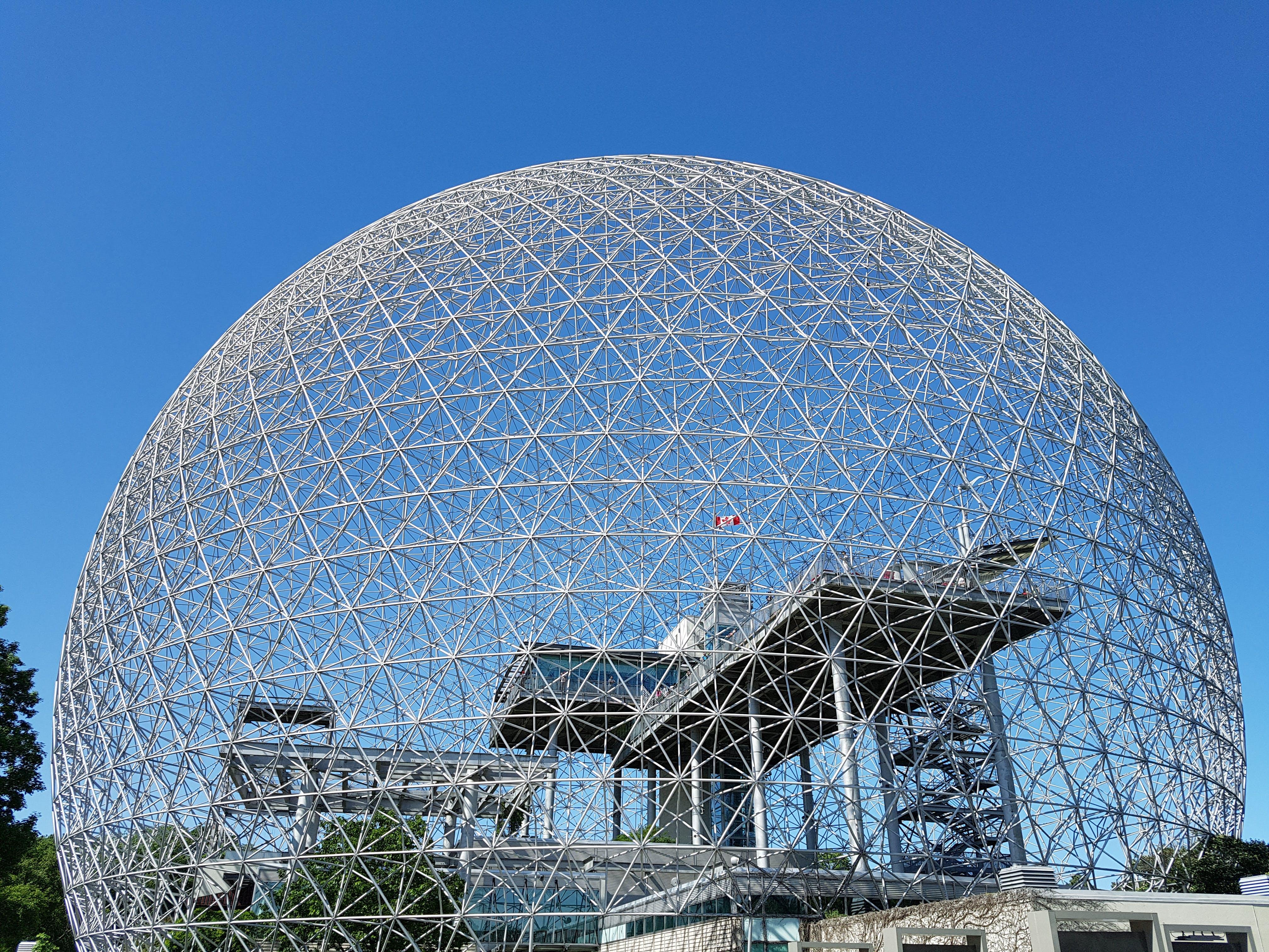 Gratis lagerfoto af arkitektur, bio dome, biologi, blå himmel