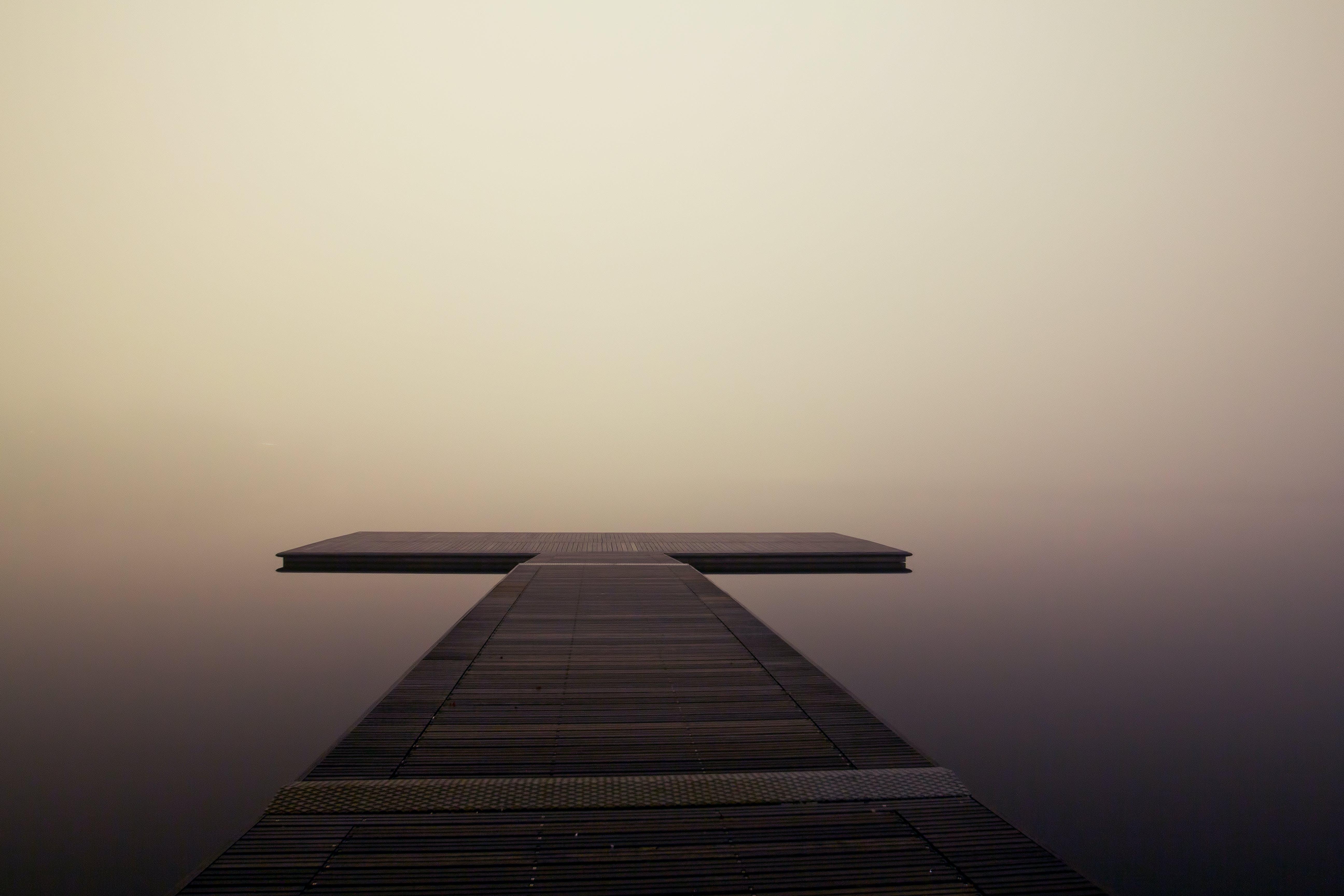 Free stock photo of jetty, landing stage, sea, fog