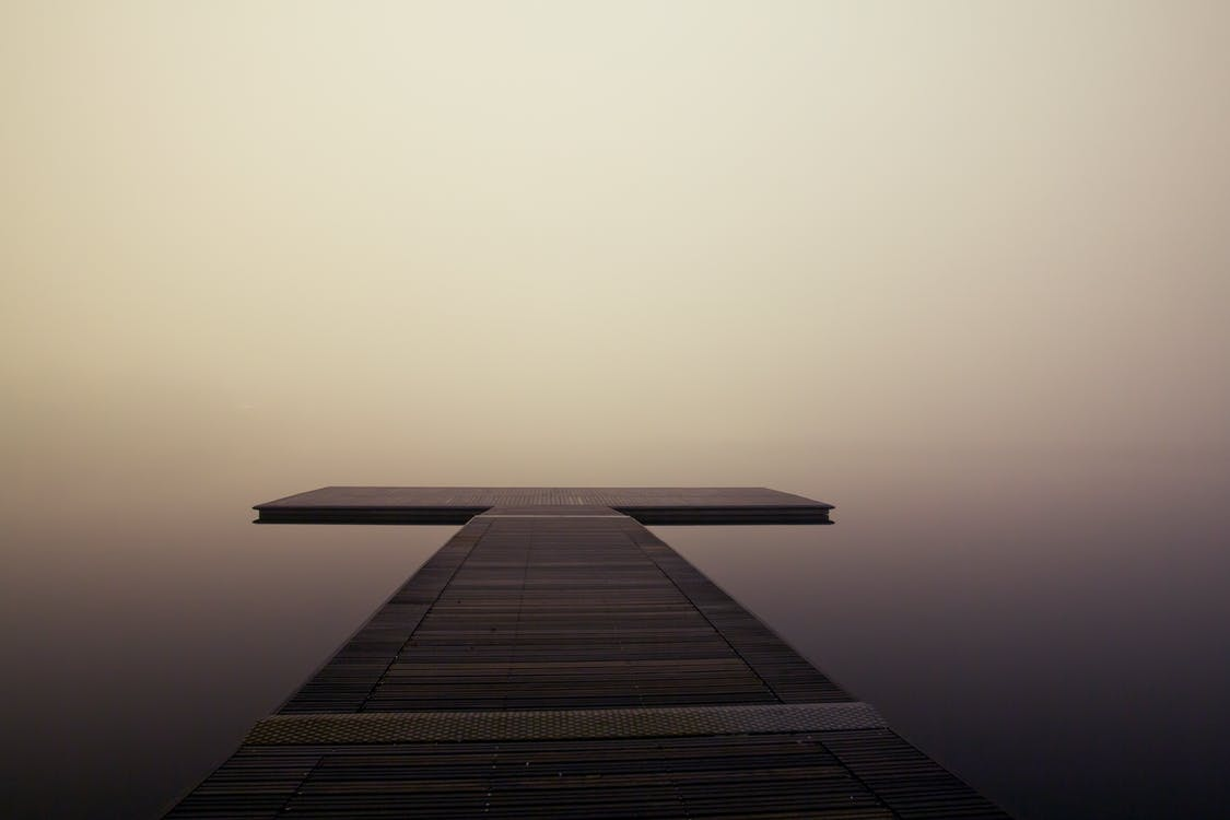деревянный, море, понтон