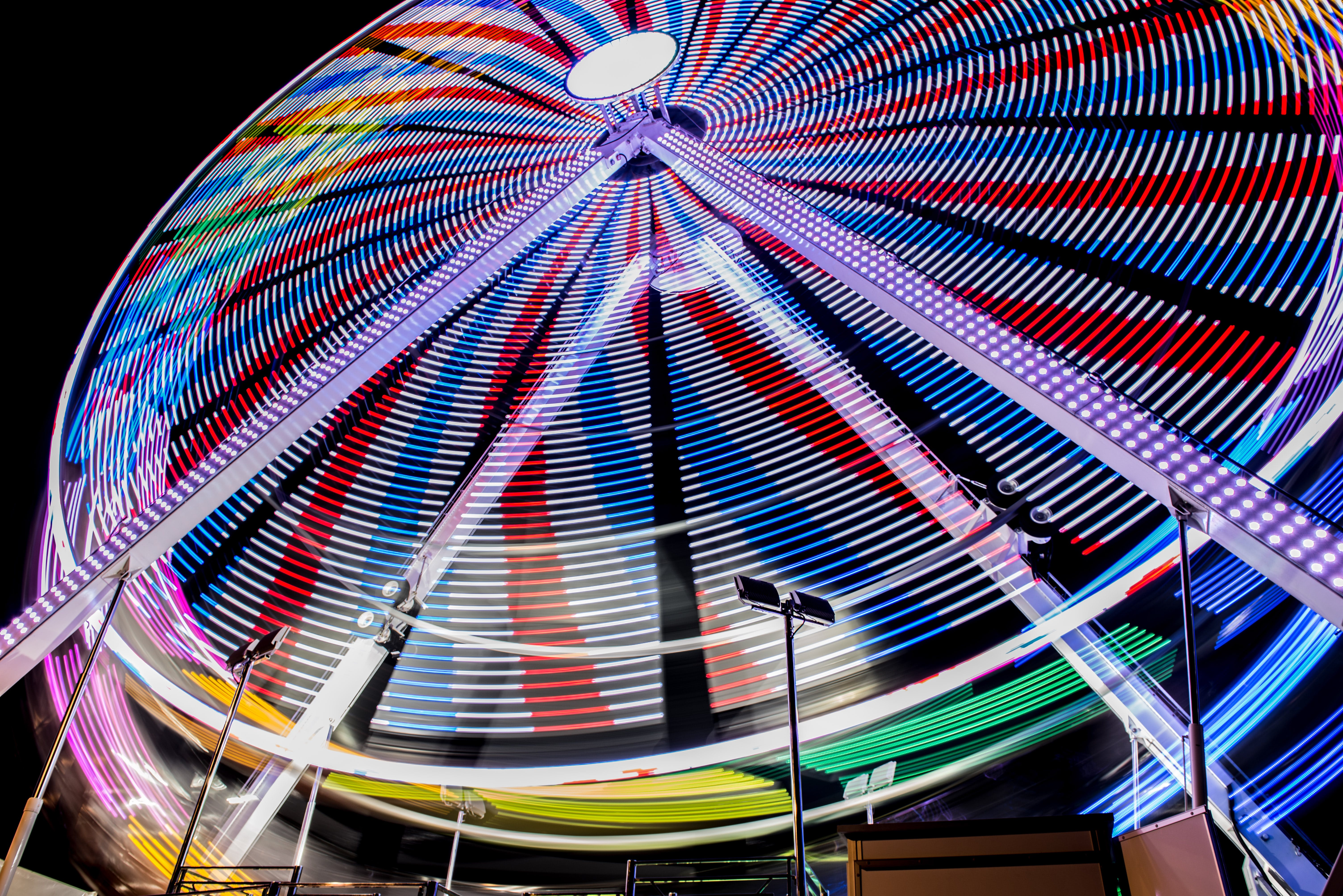 Multicolored Ferry's Wheel during Night Time