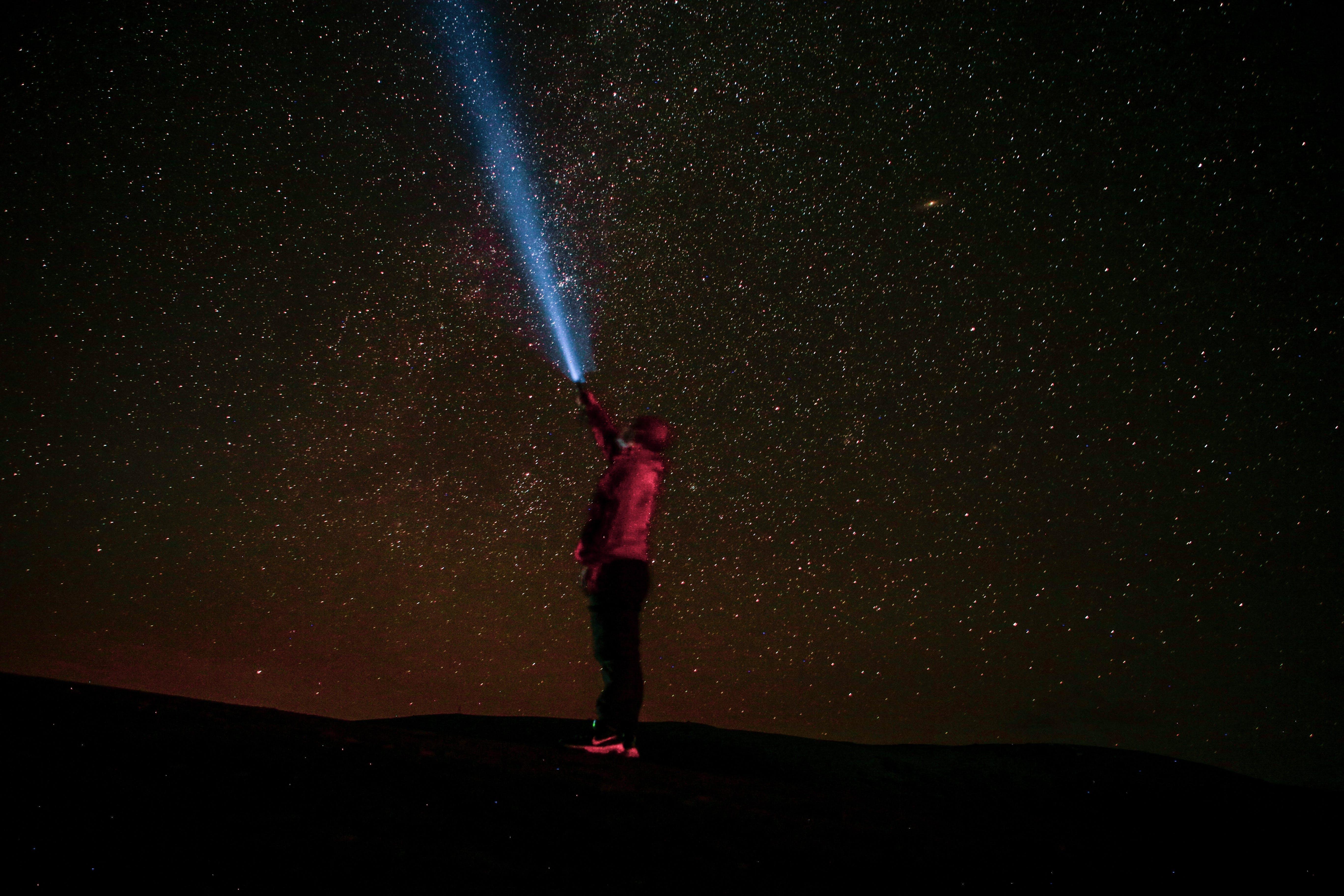 คลังภาพถ่ายฟรี ของ กาแล็กซี, ดวงดาว, ดาวตก, ท้องฟ้ากลางคืน