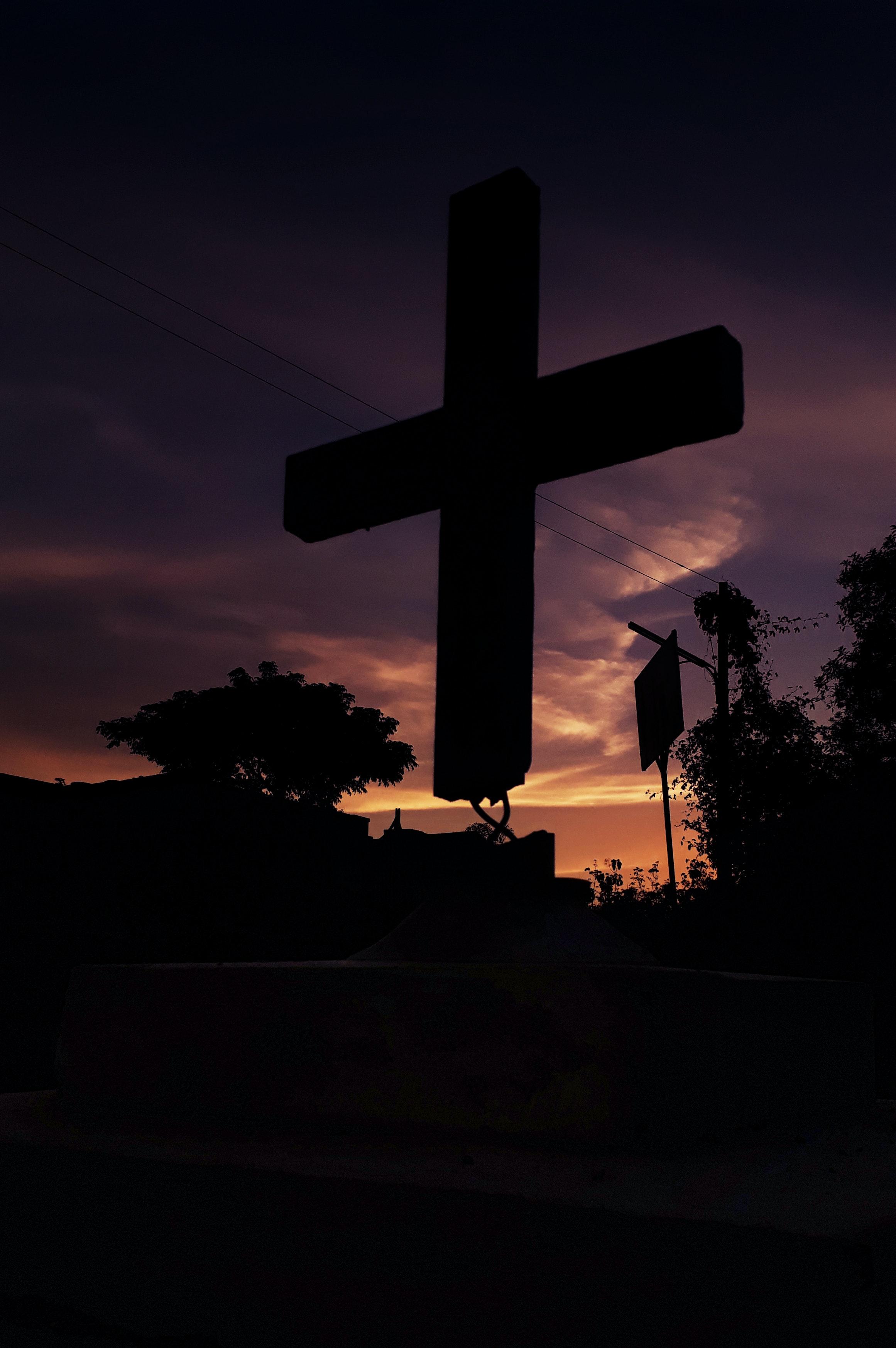 Free stock photo of cross, jesus, light and shadow